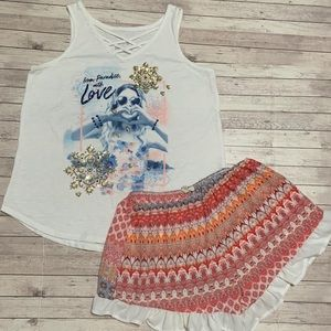 Size 14/16 Girls Shorts and Tank